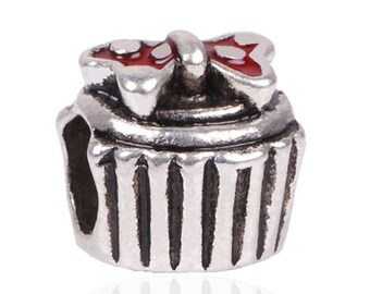 Silver Charms,Authentic Sterling silver,Gift Box Charm Bead,Fit Pandora Bracelet,Silver Beads,European Beads,Jewelry Making,DIY,Worldwide