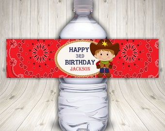 Cowboy Theme, Boy Cowboy Party, Cowboy Decorations, Cowboy Party Theme, Cowboy Favors, Water Bottle Label, Toddler Cowboy, Western Theme