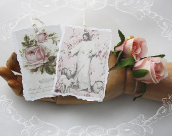 little lambs and roses - art tags