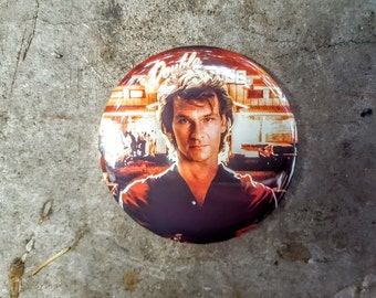 "Pinback or Magnet 2.25"" RoadHouse Patrick Swayze BEST MOVIE Movie Button Fridge Magnet"
