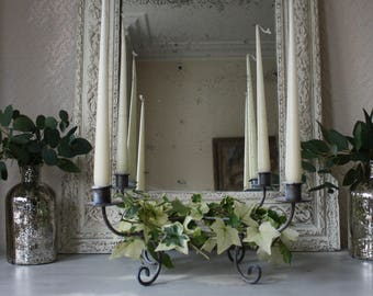 Lovely Circular Wirework Four Arm Candleabra or Table Centrepiece