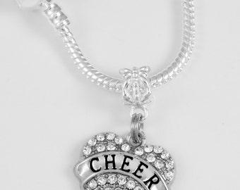 Cheerleader Necklace Cheer Charm necklace Cheerleader Best Jewelry gift