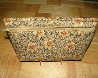 Fabric Cosmetic Bag - quilted