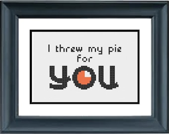 I Threw My Pie For You - Orange is the New Black - PDF Cross-Stitch Pattern - Netflix