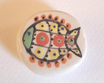 Ceramic decor fish bead