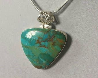 Beautiful sterling pendant necklace natural stone Turquoise