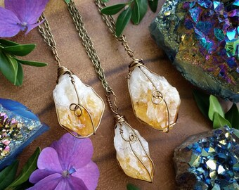 November Birthstone necklace, Citrine necklace, raw citrine pendant, Citrine point pendant, november birthstone,  rough, birthday gift
