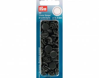 Prym round dark gray Color snaps 393 109 snaps