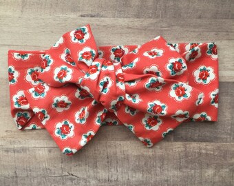 Wrap Headband - Hair Wrap - Headwrap - One Size - Newborn-Toddler-Child-Adult - Vintage Rose