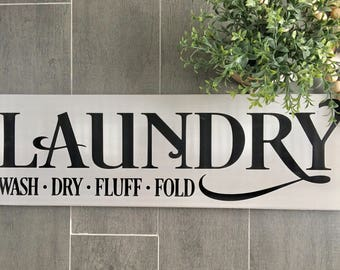 Laundry Sign - Laundry Room Sign - Laundry Room Decor - Farmhouse Decor - Farmhouse Style - Wood Sign - Home Decor - Distressed Sign