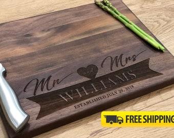 Personalized Cutting Board - Engraved Cutting Board - Cutting Board - Custom Cutting Board - Wedding Gift - Housewarming Gift- Free Shipping