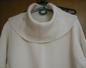 vintage cream 'Lizwear'  cotton sweater size S