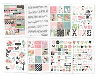 "Romance Stickers 4""X6"" 8/Pkg Simple Stories • Planner Stickers (9416)"