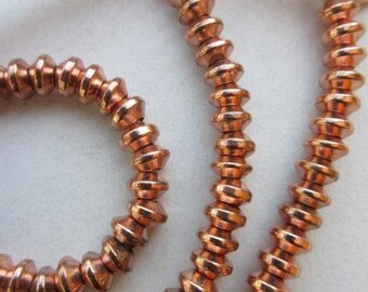 Copper Spacer Beads (6x4mm) [64813]