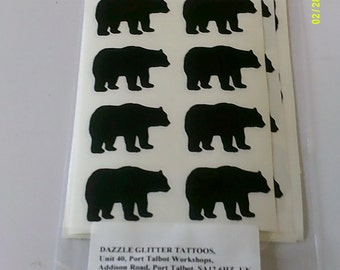 30 x black bear / Polar bear stickers   animals  jungle boys girls children