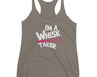 Funny Pink Whisk Taker Baker Baking Pastries Tank