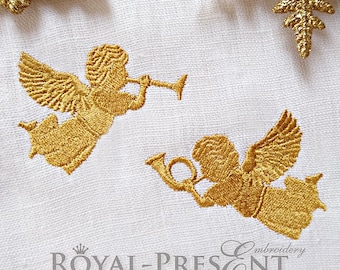 Machine Embroidery Designs Two Christmas angels