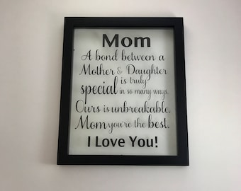 Picture Frame, Wedding Gift, Mother of the Bride, Mothers day, Mothers day gift, Mother's day, Mother Gift, Gift for Mom, Grandmother Gifts