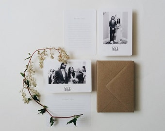 30 Photograph Thank You Cards || Rustic Wedding Thank You Cards, Personalised Photography Thank You Card, Thank You Card Pack