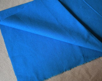 Wide royal blue linen cotton 1yard (55 x 36 inches)