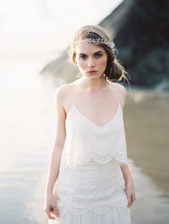 Bridal crown Crystal Baby\'s Breath Crown Hair Wreath