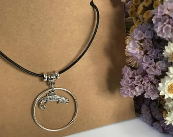 Silver Trout Necklace