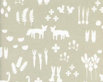QUILTING FABRIC: This and That Linen by Printshop designed by Alexia Abegg for Cotton and Steel, 1 yard