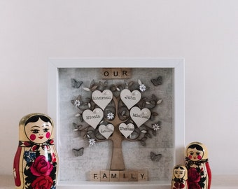 Personalised Family Tree Gift Frame, Family Tree Gift, Family Tree Frame, Family Tree Picture Frame, Personalised Gift, Family Tree Gift