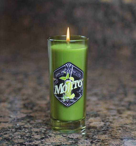 Cocktail Glass Candle, Mojito Scent - 6 Oz.