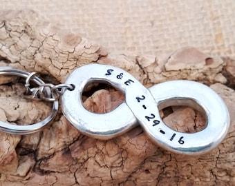 Infinity Key Chain - Men's Gift - Dad Gift - Personalize Key Chain - Groom gift - Wedding Keychain - Valentine's day gift