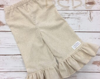 Cream Ruffle Pants, Toddler Ruffle Pants, Muslin Ruffle Pants, Beach Photo Outfit, Beach Photo Prop, Spring Outfit, Summer Outfit