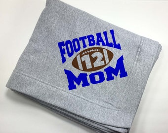 Gift For Mom From Son - Oversized Throw Blanket - Bed Throws And Blankets - Football Team Mom Gifts - Football Mom Gear - Gift For Her