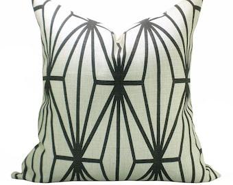 Katana pillow cover in Ivory/Ebony