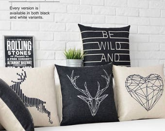 Nortic style throw pillow