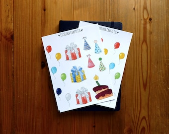 2-Pack Birthday Decorative Bullet Journal and Planner Stickers