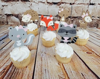Baby Shower | Girl Baby | Woodland Creatures | 1st Birthday |