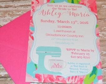 DIGITAL Lilly Pulitzer inspired Bridal Shower invite