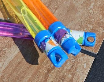 Set of 10 Splatter Paint  - Paint Splatter Bubble Wands Birthday Favors Gifts