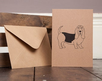 Basset Hound Greetings Card