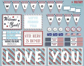 Military Homecoming Printable, Welcome Home Military, Deployment Homecoming Sign,  Welcome Home Banner Printable, Military Deployment Sign