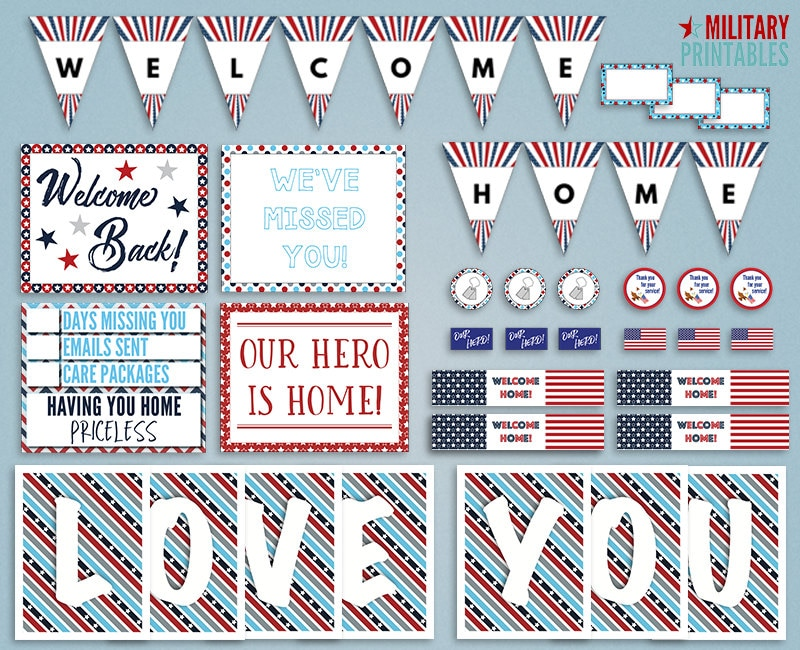 picture regarding Printable Welcome Home Banner titled Military services Welcome Household Banner @MW34 Advancedmagebysara