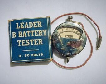 Leader B Battery Tester 0 - 50 Volts Vintage
