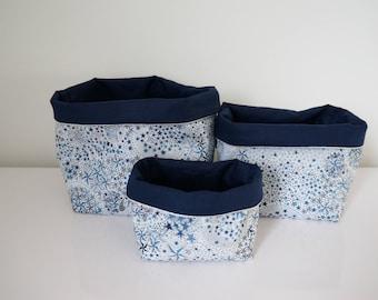 Dimensions * cotton reversible fabric baskets