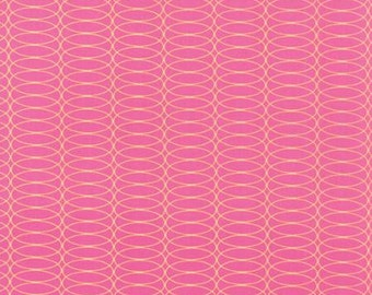For You by Brigitte Heitland for Zen Chic - Circulating - Raspberry - 1/2 Yard Cotton Quilt Fabric 516