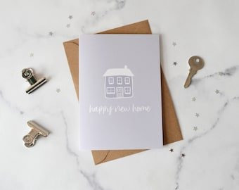 Happy New Home Illustration Card