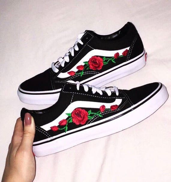 vans old skool mit rosen