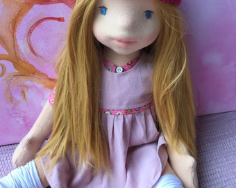 Waldorf Doll, clothing for Waldorf doll, inspired Waldorfdoll, art doll Steinerpuppe
