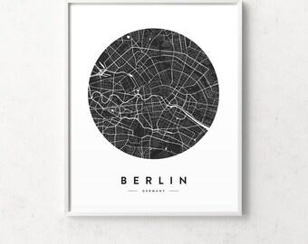 Berlin map, Berlin print, Berlin poster, Berlin city map, Berlin map poster, Berlin map print, map of Berlin, city map, map prints, map art