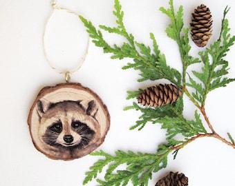 ONE Rustic Wood Ornament