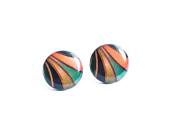Bohemian stud earrings, abstract jewellry, boho earrings studs, statement studs